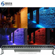 24x10W 4IN1 outdoor led recessed light color led wall washer lighting