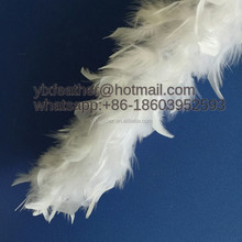 fluffy feather boa chandlle turkey cheap feather boa white