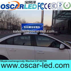 OSCARLED internet control outdoor hd xxx video advertising xx taxi led sign with GPS function