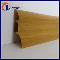 Cheap price tile floor edge trim plinth pvc skirting board