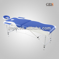 Lightweight Aluminium Portable/ Foldable Massage Table together with 4-6cm Spnoge bed with SGS