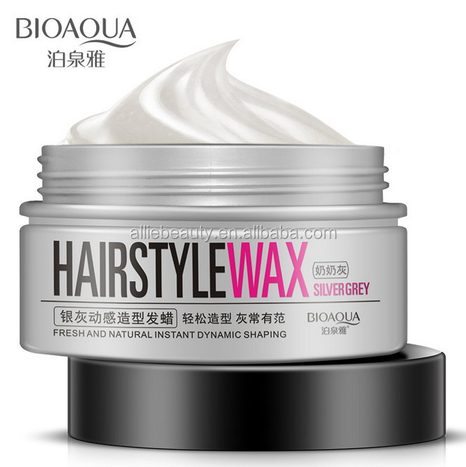BIOAOUA Hair Shaping Cream Hair Vaselin Silver Grey Hair Style Wax