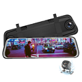 10-Inch Streaming Media Rearview Mirror dash cam front and rear Car DVR With G sensor and Night Version