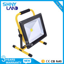 new outdoor 3000k 4000k 6000k rohs 50w rechargeable led floodlight