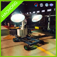 400W Hand-push Type Mobile Light Tower solar Light Tower