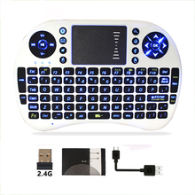 USB LED light mini backlit keyboard 2.4G wireless t2 air fly mouse