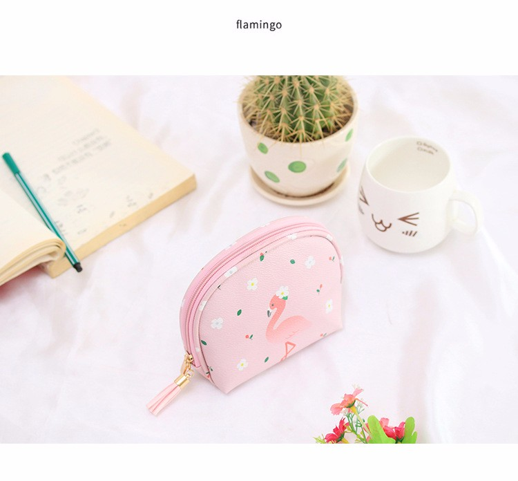 Waterproof OEM/ODM Service China Reliable Supplier Zip Top Colorful Pattern PU Leather Make Up Bag