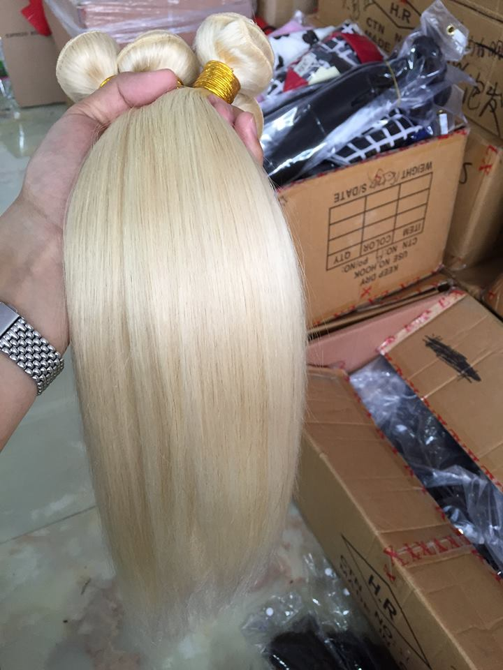 Hot Sale Fast Shipping No Shedding No Tangle Full Cuticle straight blonde hair