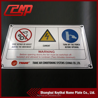 China manufacturer Cheap Aluminum safety sign / triangle traffic road sign