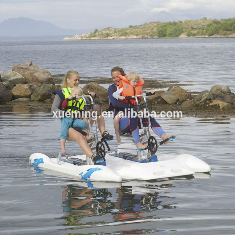 hot sale fishing plastic single seat water pedal bike