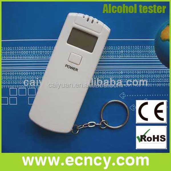 Large area for logo printing digital alcohol tester with LED indication keyring machine