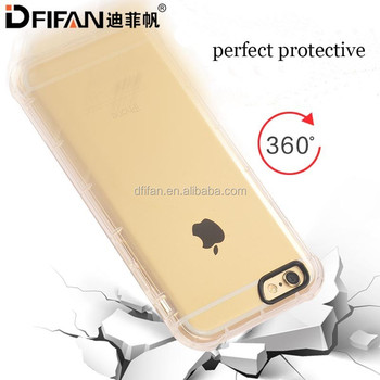 DFIFAN Mobile Phone Accessories for iphone 6 case, Clear TPU Antifall Back Cover ,for iPhone 6/6s Plus Shockproof Case