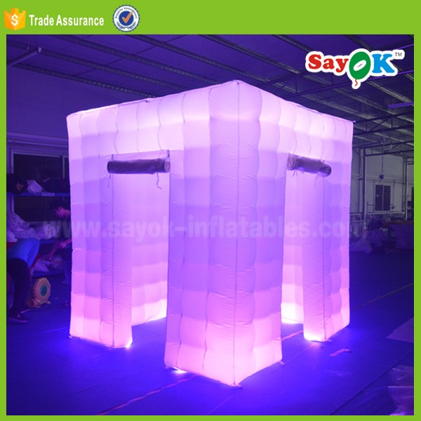 portable led inflatable photo booth lighting wedding photo booth cube tent for sale