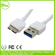 Micro USB 3.0 Data Sync usb 3.0 Cable Battery Charger 1M Cord for Samsung Galaxy Note 3 III