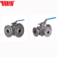 Only Full Bore Flanged ANSI 150 Stainless Steel Ball Valve 3 Way Manual