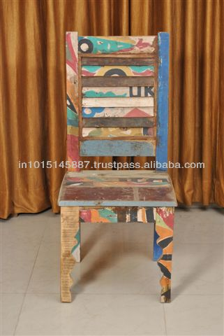 reclaimed timber from Truck made chair