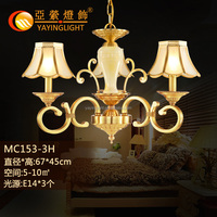 brass marble stand chandelier pendant dining room, fancy marble base copper pendant lamps hanging