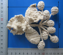 Hand Made Crochet Flower Design 100% Cotton Lace Pompon