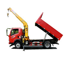Hot sale 6 wheel 4 ton dump truck mounted 3.5tons crane,tipper truck with crane