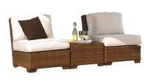 3-Piece St Barths Armless with Cushions Set