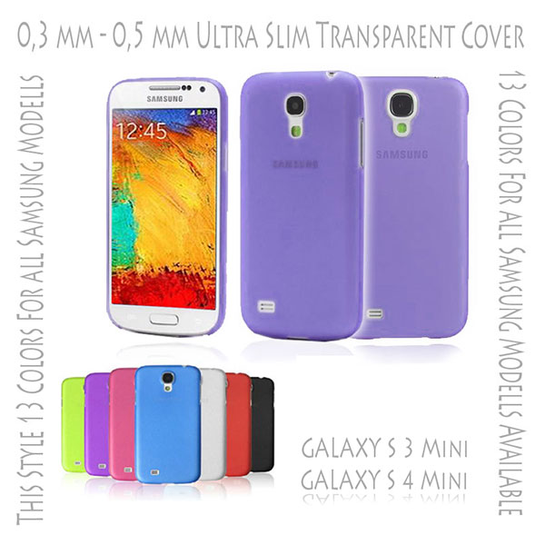 Hard Case Cover Ultra Thin Slim 0,3 mm Transparent Matte for Samsung Galaxy S3 S 3 III Mini i8190 | S4 S 4 IV Mini i9190 Purple