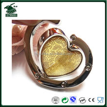 Hot selling foldable heart shape handbag hook