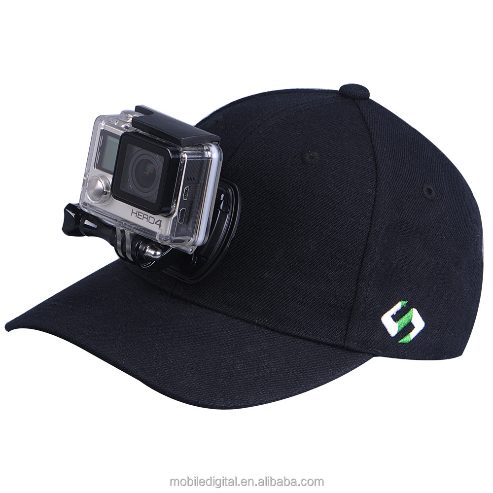 Smatree Baseball Hat for GoPro - SmaHat H1 with Quick Release Buckle Mount for Go Pro Hero 4, Session, 3+, 3, 2, 1(M, 57-59cm)