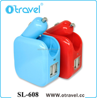 Otravel DUAL 2.1 Amp car charger optimises charging your Smartphone, Tablet computer and any other USB related device