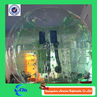 Half of green color PVC 1.5 m knocker ball , inflatable bubble ball, hamster ball for adults