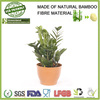 customize eco bamboo fibre bio friendly plants pot, gardening pots