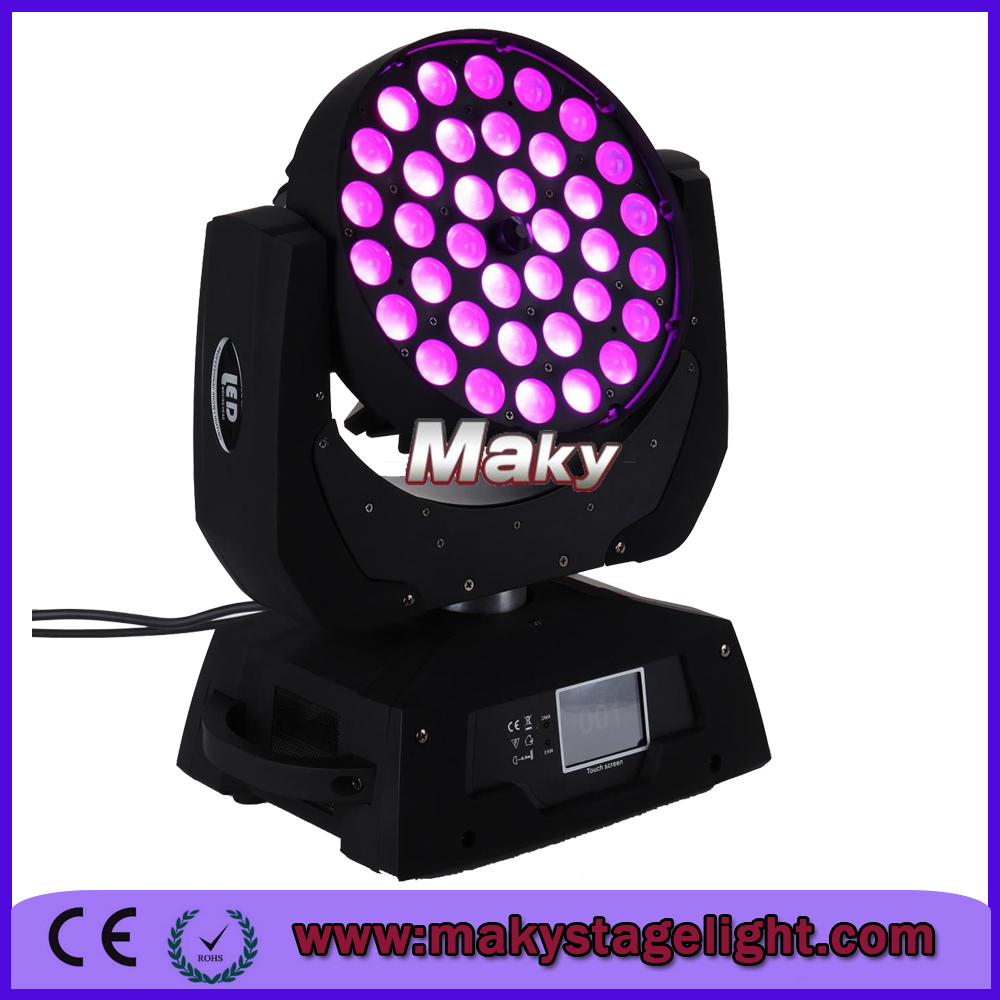stage lighting Uniform Wash Effect 36x10w Zoom LED Beam Moving Head Light