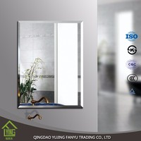 3mm frameless beveled aluminum mirror for home decor