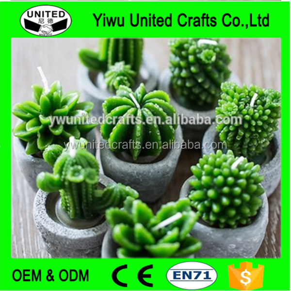 Wholesale Eco-Friendly Cute Cactus Candles , different shapes wedding cake candle , Fancy Candles