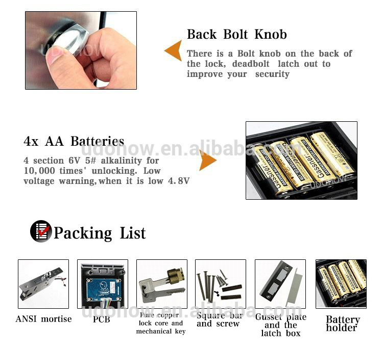 Manufacturer RFID Card Rfid Door Lock For Hotel, Home, Office, RF Hotel Lock System