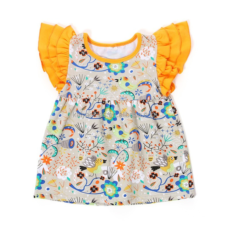 daily wear tunics cotton printed plain baby toddler clothing organic blank kids t-shirts