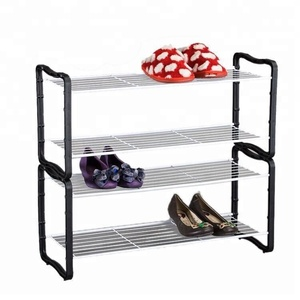 550-79 household 2 tier free assemble metal shoe rack