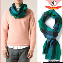 2014-2015 check pattern multi-color men 100% cotton plaid scarf