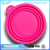 High quality & Eco-friendly Feature food grade silicone collapsible pet feeder bowl