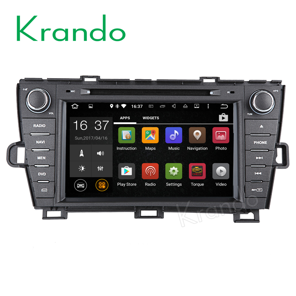 "Krando Android 6.0 8"" car pc multimedia for toyota prius left diving 2009-2015 car radio audio dvd player wifi 2+16G KD-TP809L"
