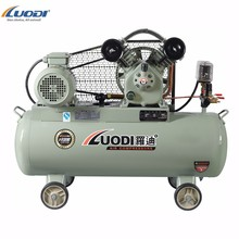 12 bar 100l electric portable piston v belt driven air compressor for car