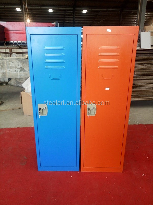 Popular colorful children used small metal wardrobe designs for sale