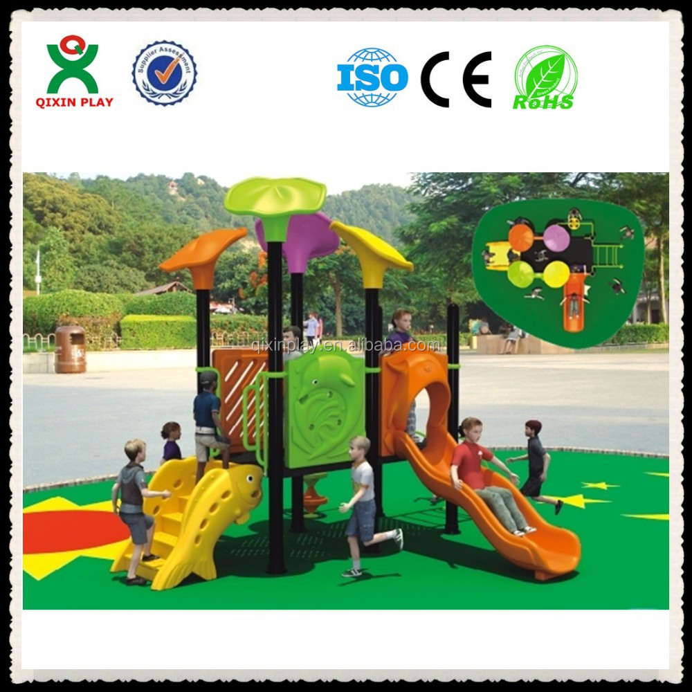 Mini exercise outdoors plastic slide for kids play (QX - 050C)