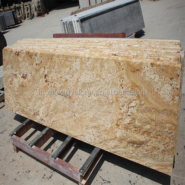 custom Imperial Gold granite kitchen counter top