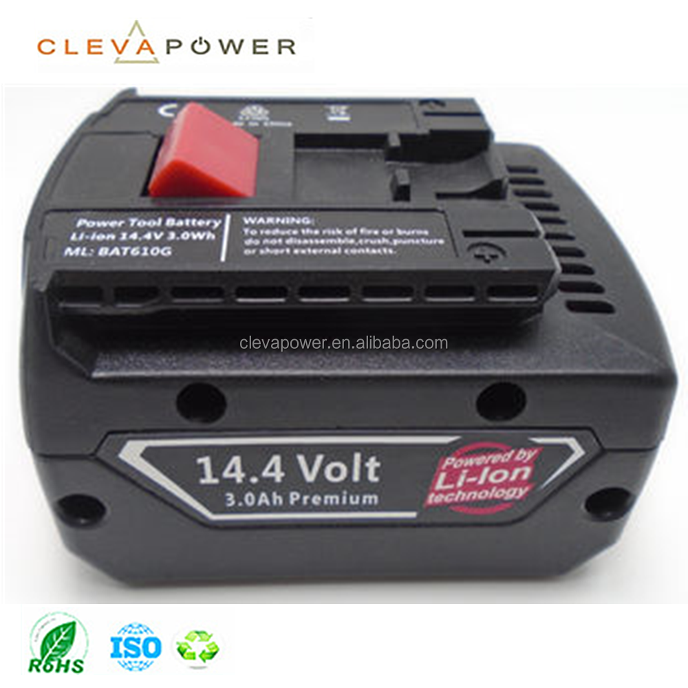 CLEVA BAT607G/BAT614G replacement li-ion battery 14.4V 3000mAh Power Tool battery pack