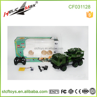 Top quality! 4 Channel RC military army truck funny toy w/ LED lights and music For Sale