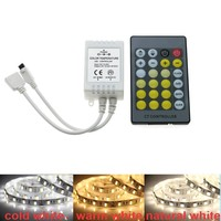 LED Color Temperature Controller IR Remote 24 Key CCT LED Strip Warm White Cold White Control DC5-24V Light Adjustment