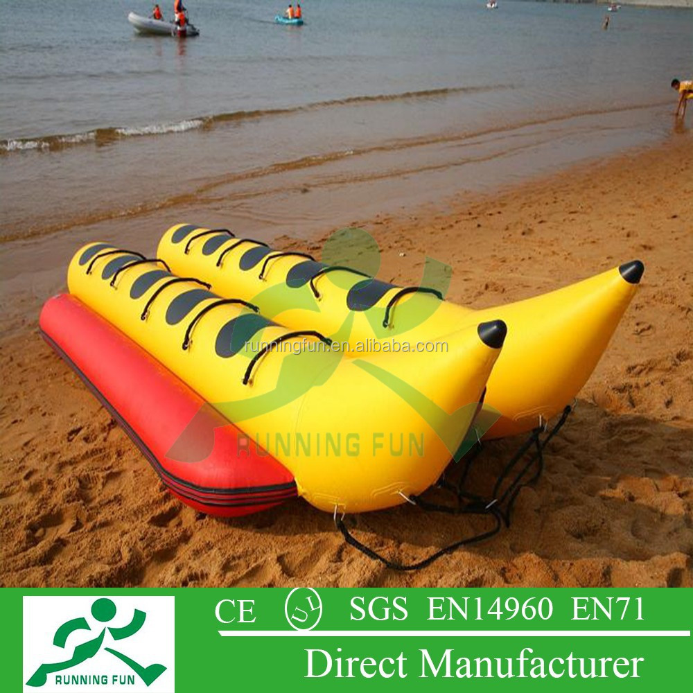 inflatable water banana boat/inflatable water games flyfish banana boat/inflatable banana boat for sale