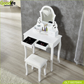 Wholesale Graceful vanity table cheap factory bedroom modern vanity table in Brown with stool
