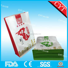 Nontoxic food grade flat bottom paper bags for dry fruits