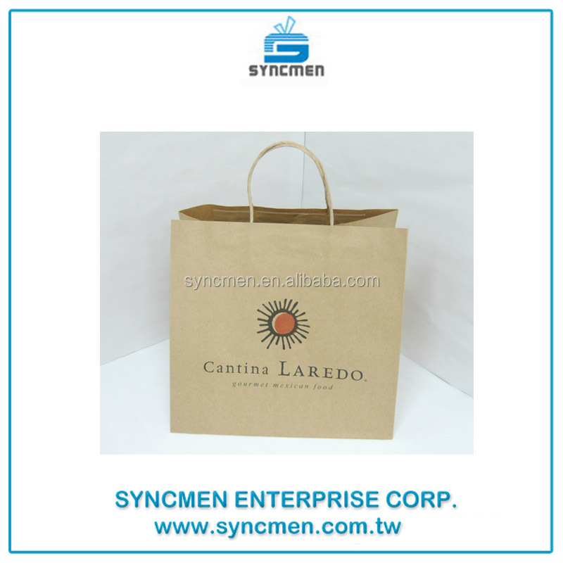 Custom Various Kinds of Grocery Brown Kraft Paper Shopping Bags